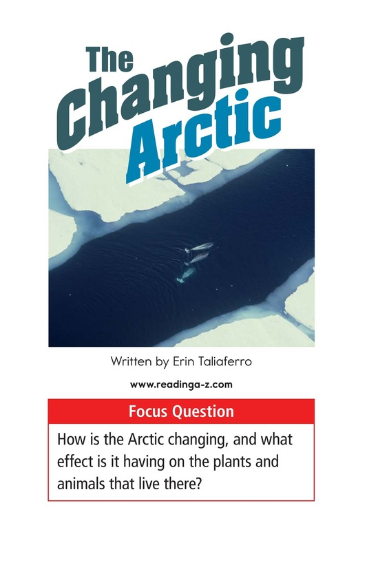 Book Preview For The Changing Arctic Page 1