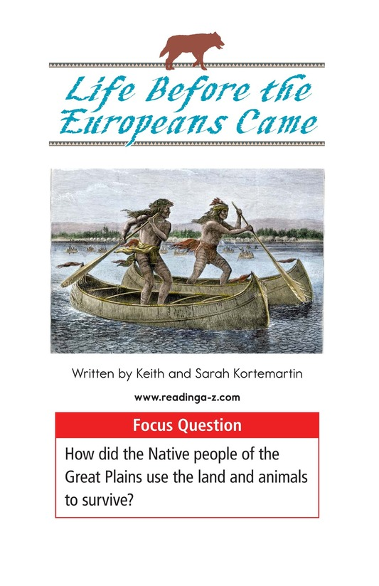 Book Preview For Life Before the Europeans Came Page 1