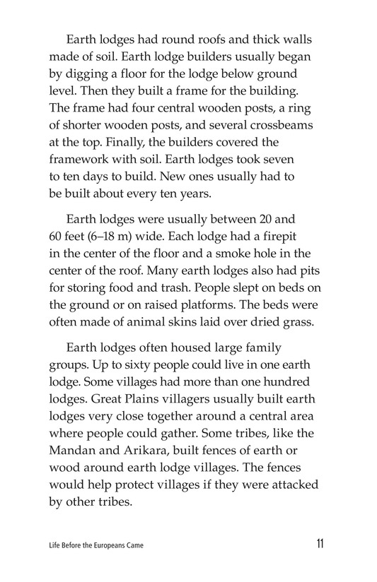 Book Preview For Life Before the Europeans Came Page 11