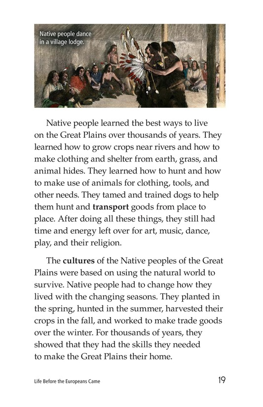 Book Preview For Life Before the Europeans Came Page 19