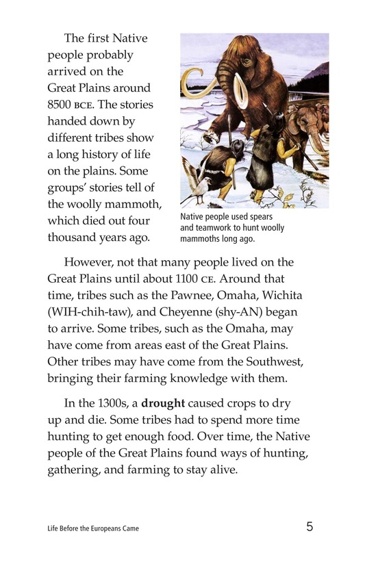 Book Preview For Life Before the Europeans Came Page 5