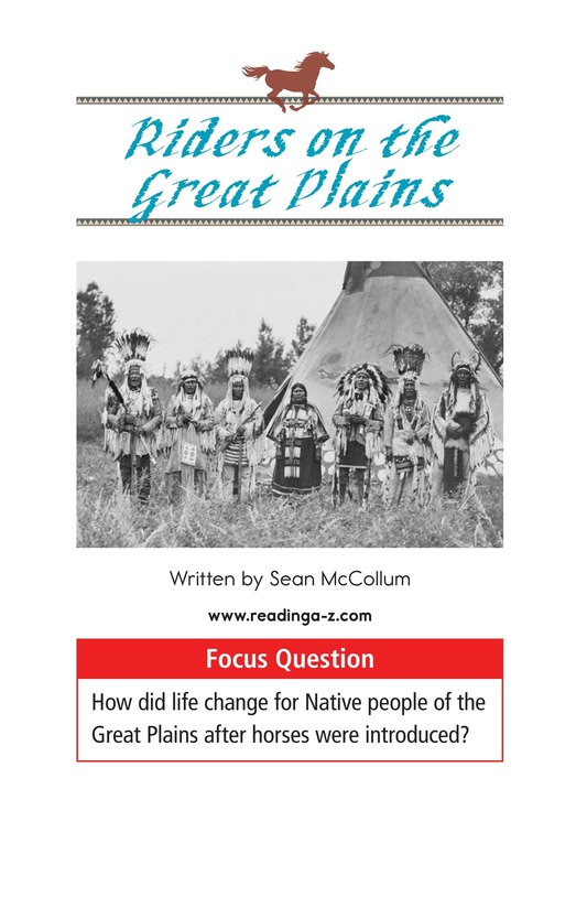 Book Preview For Riders on the Great Plains Page 1