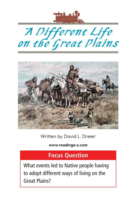 Book Preview For A Different Life on the Great Plains Page 1