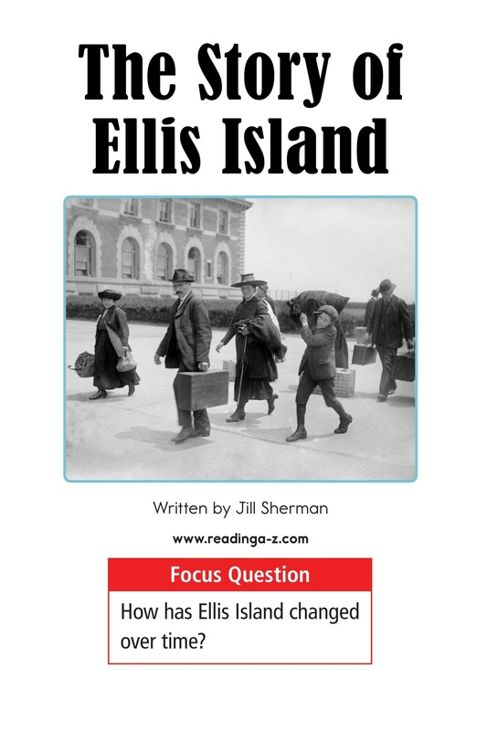Book Preview For The Story of Ellis Island Page 1