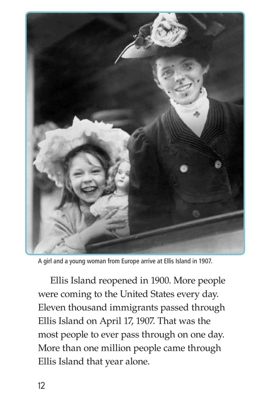 Book Preview For The Story of Ellis Island Page 12
