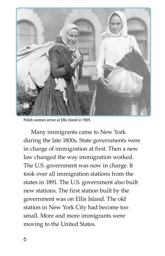 Book Preview For The Story of Ellis Island Page 6