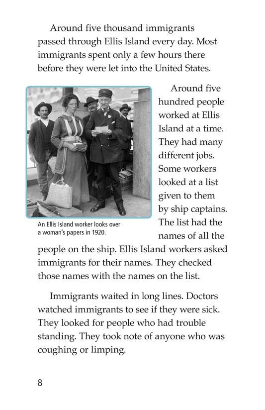 Book Preview For The Story of Ellis Island Page 8