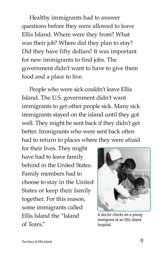Book Preview For The Story of Ellis Island Page 9
