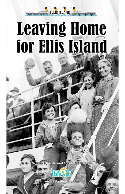 Book Preview For Leaving Home for Ellis Island Page 0
