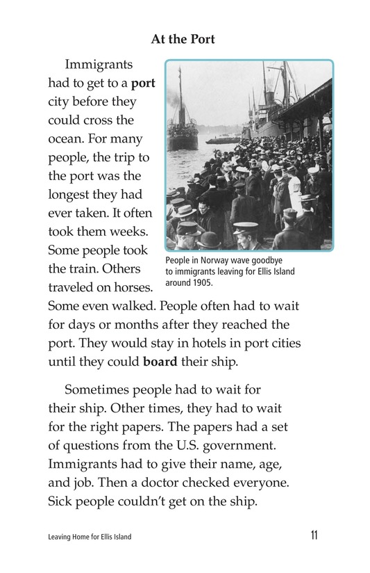 Book Preview For Leaving Home for Ellis Island Page 11