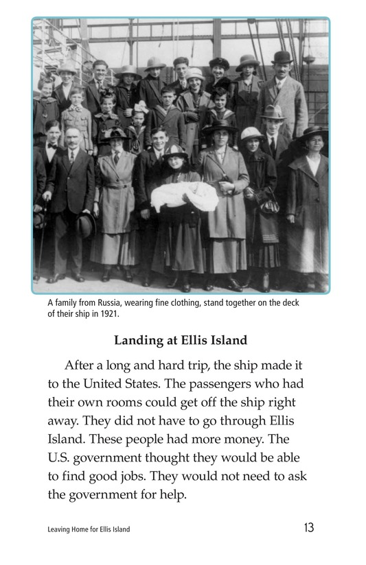 Book Preview For Leaving Home for Ellis Island Page 13
