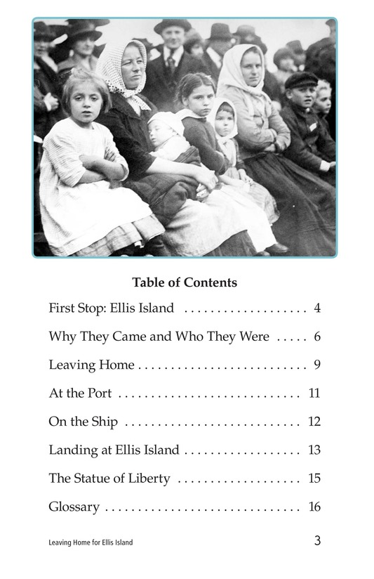 Book Preview For Leaving Home for Ellis Island Page 3