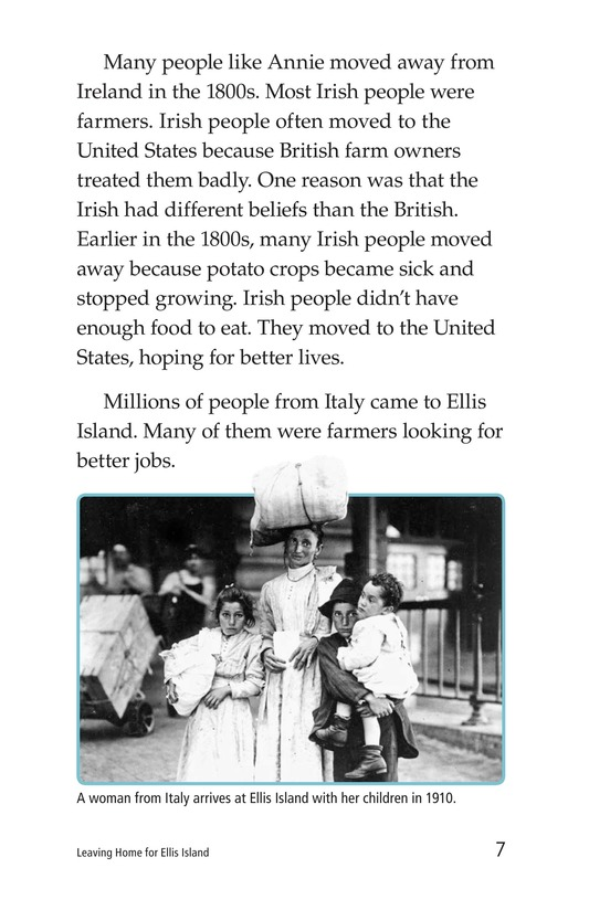 Book Preview For Leaving Home for Ellis Island Page 7