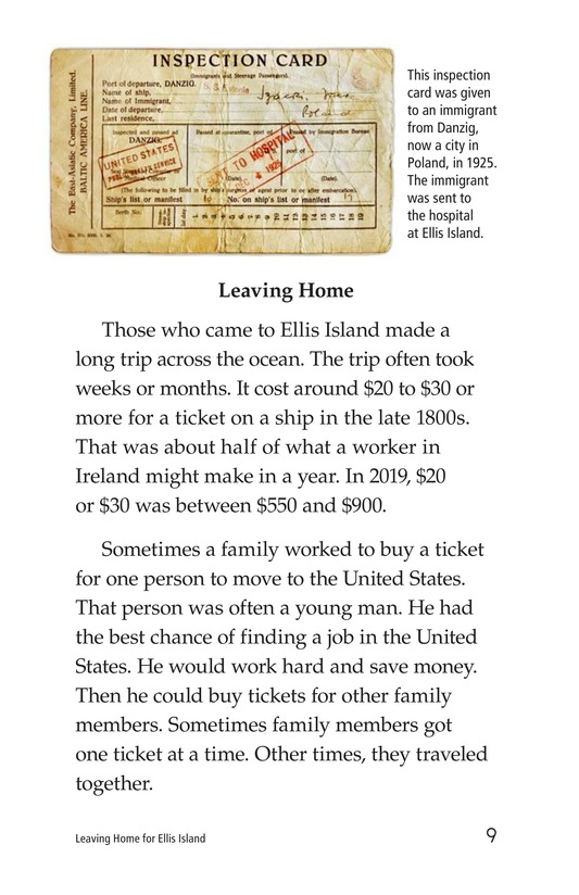 Book Preview For Leaving Home for Ellis Island Page 9