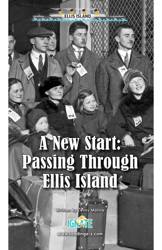 Book Preview For A New Start: Passing Through Ellis Island Page 0