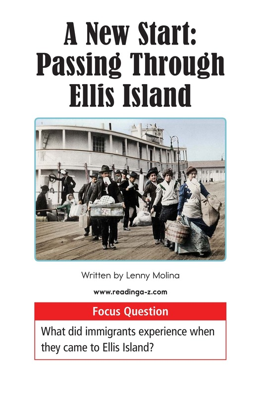 Book Preview For A New Start: Passing Through Ellis Island Page 1