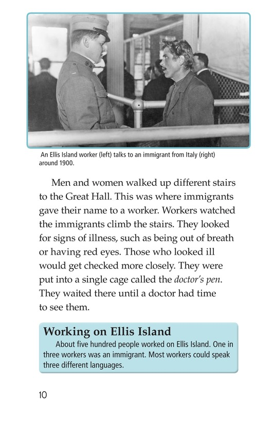 Book Preview For A New Start: Passing Through Ellis Island Page 10