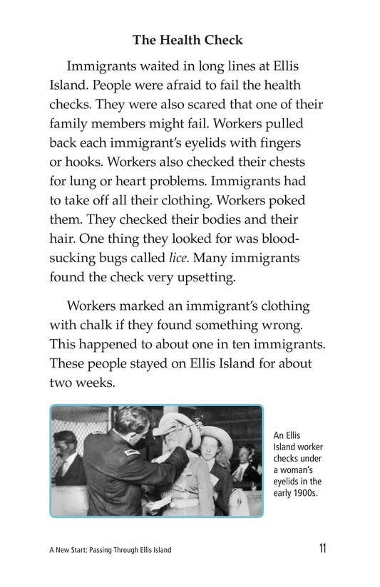 Book Preview For A New Start: Passing Through Ellis Island Page 11