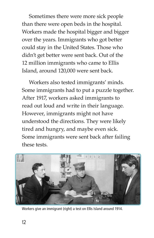 Book Preview For A New Start: Passing Through Ellis Island Page 12