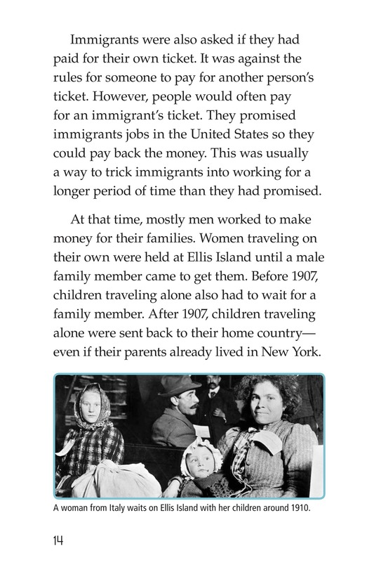 Book Preview For A New Start: Passing Through Ellis Island Page 14