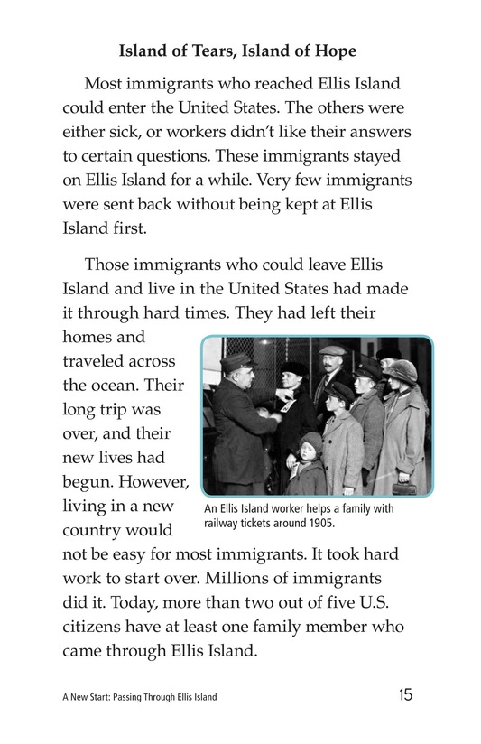 Book Preview For A New Start: Passing Through Ellis Island Page 15