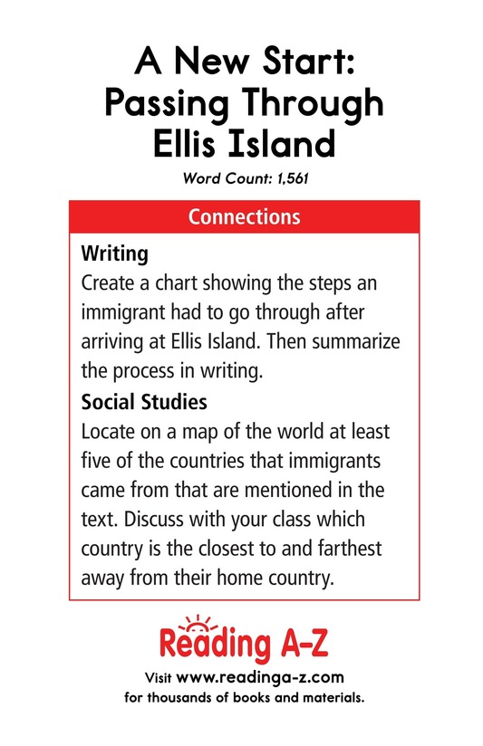 Book Preview For A New Start: Passing Through Ellis Island Page 17