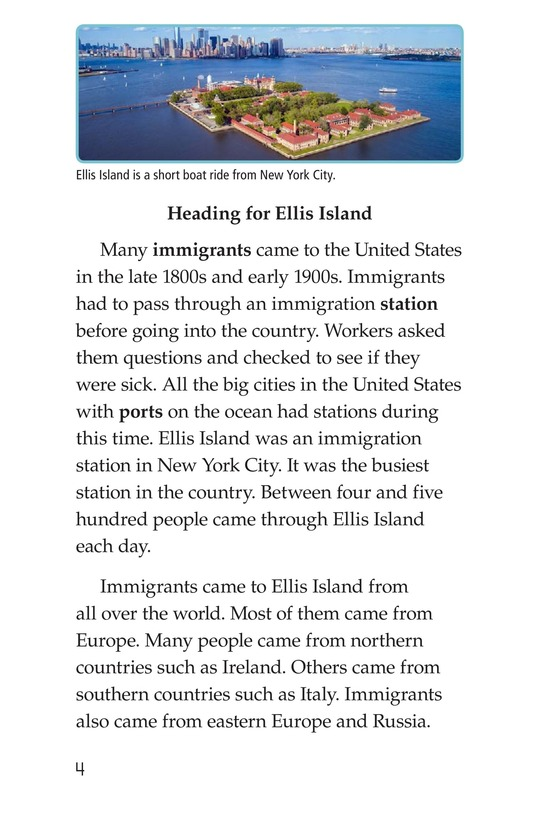 Book Preview For A New Start: Passing Through Ellis Island Page 4