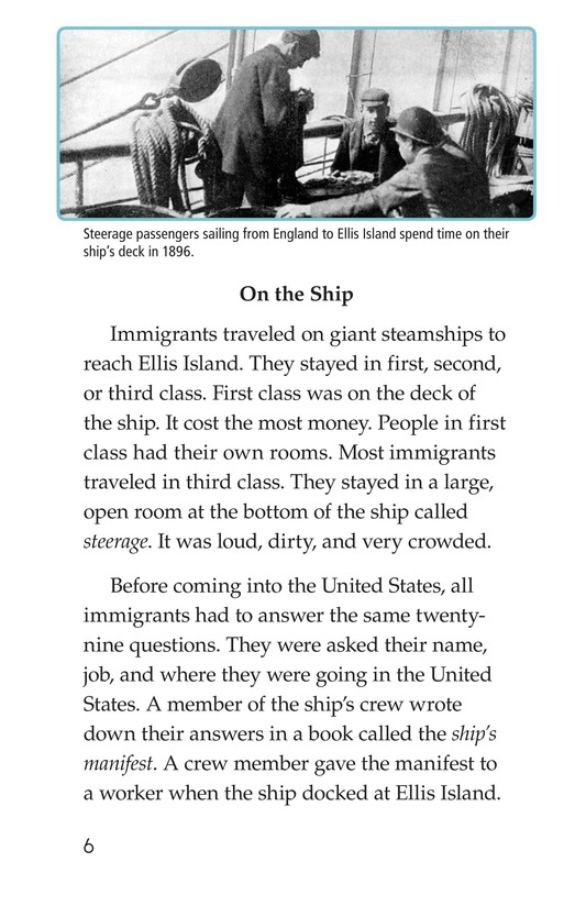 Book Preview For A New Start: Passing Through Ellis Island Page 6
