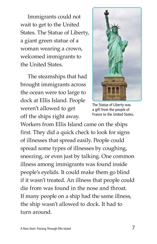 Book Preview For A New Start: Passing Through Ellis Island Page 7