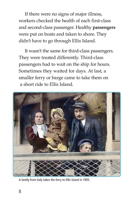 Book Preview For A New Start: Passing Through Ellis Island Page 8