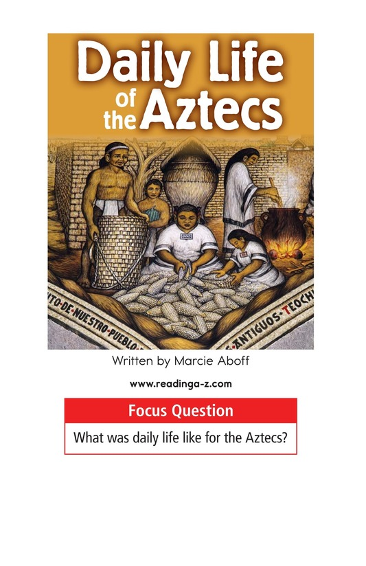 Book Preview For Daily Life of the Aztecs Page 1