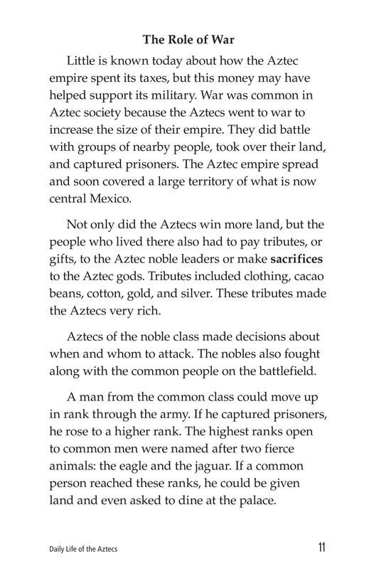 Book Preview For Daily Life of the Aztecs Page 11