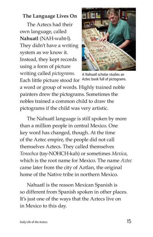 Book Preview For Daily Life of the Aztecs Page 15