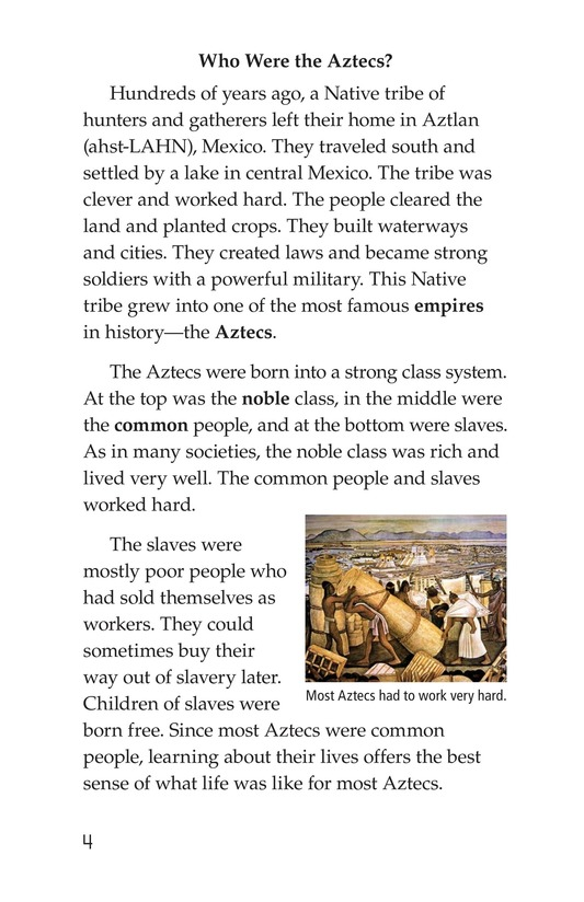 Book Preview For Daily Life of the Aztecs Page 4