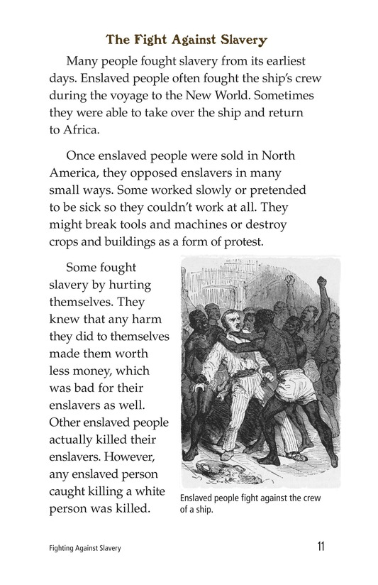 Book Preview For Fighting Against Slavery Page 11