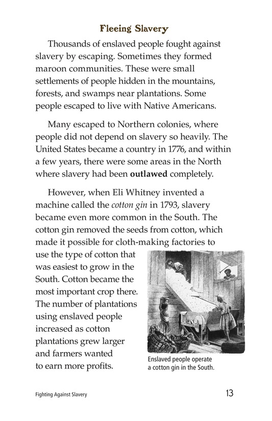 Book Preview For Fighting Against Slavery Page 13