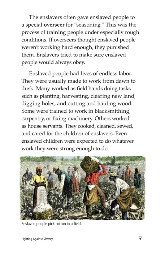 Book Preview For Fighting Against Slavery Page 9