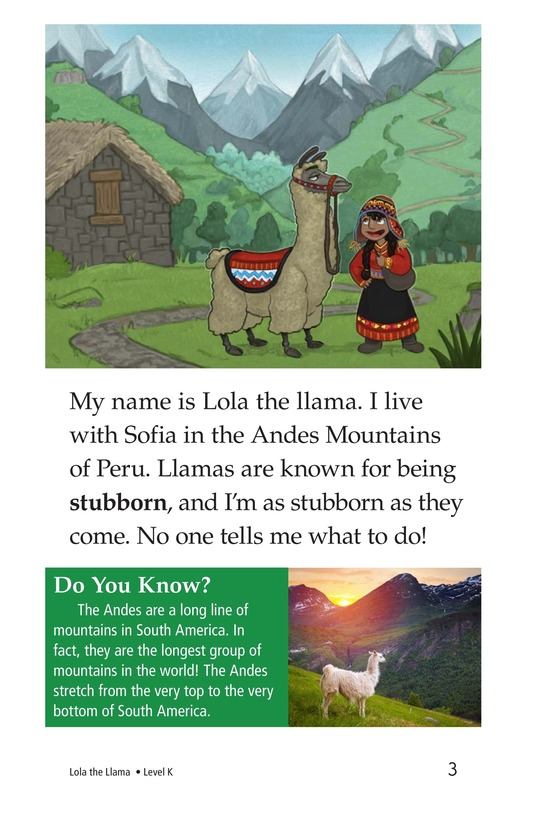 Book Preview For Lola the Llama Page 3