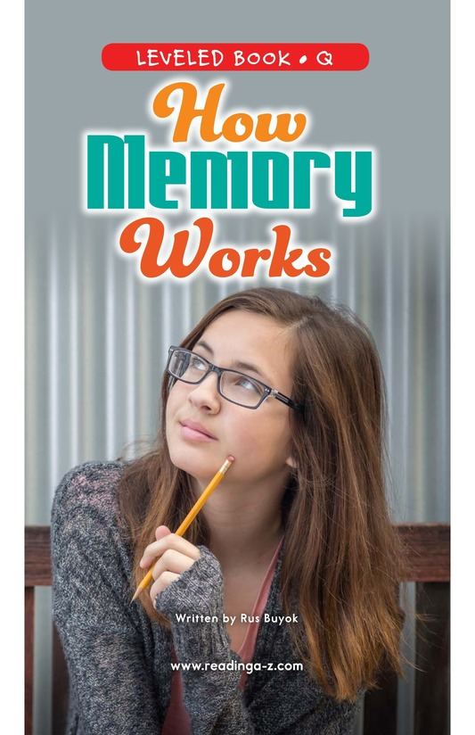 Book Preview For How Memory Works Page 0