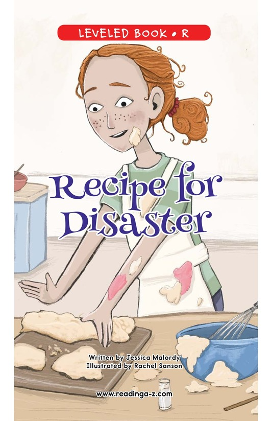 Book Preview For Recipe for Disaster Page 0
