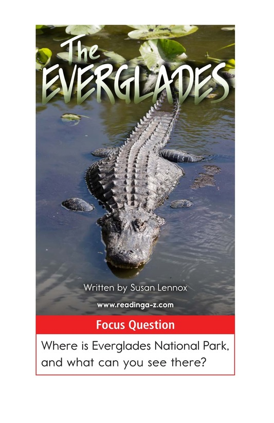 Book Preview For The Everglades Page 1