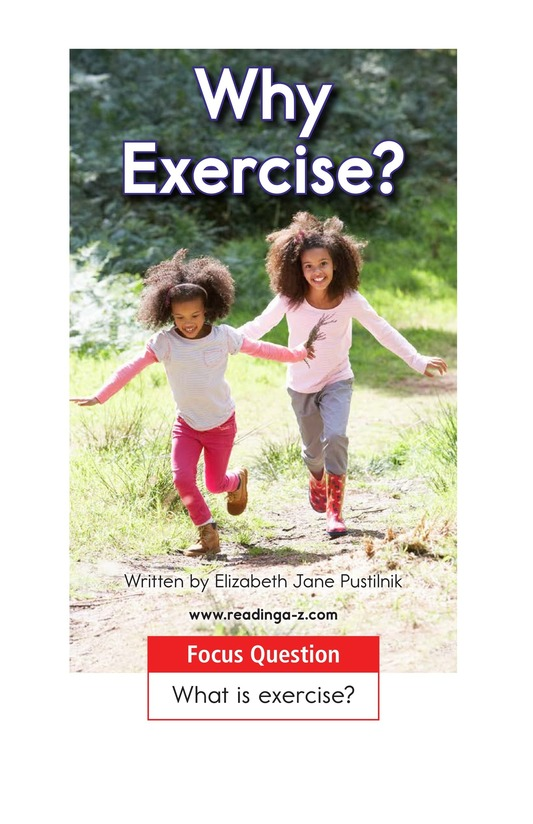 Book Preview For Why Exercise? Page 1