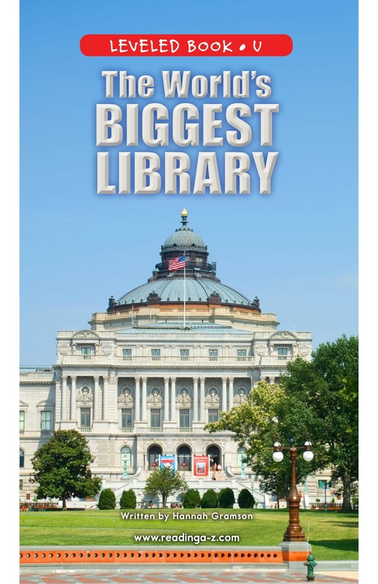 Book Preview For The World's Biggest Library Page 0