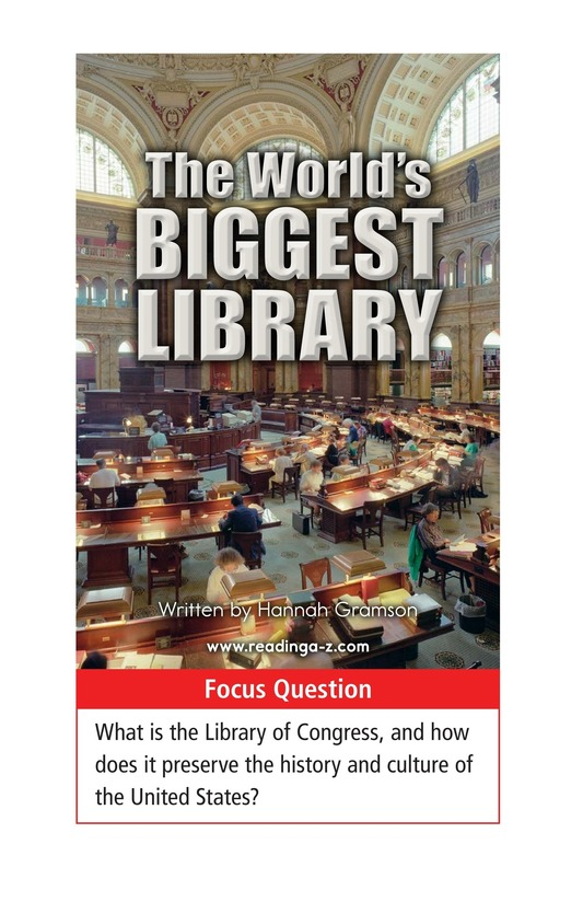 Book Preview For The World's Biggest Library Page 1