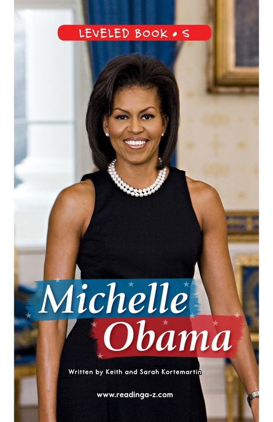 Book Preview For Michelle Obama Page 0