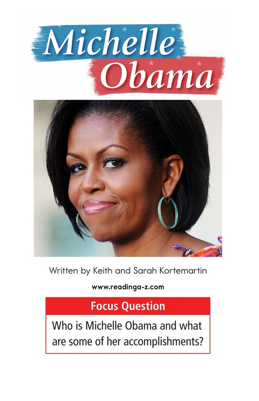 Book Preview For Michelle Obama Page 1
