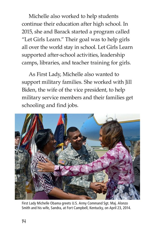 Book Preview For Michelle Obama Page 14