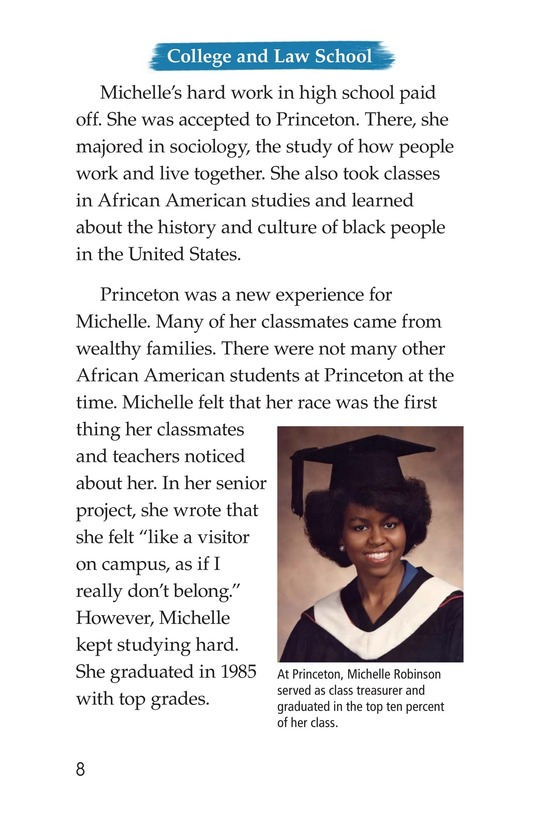 Book Preview For Michelle Obama Page 8