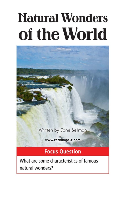Book Preview For Natural Wonders of the World Page 1