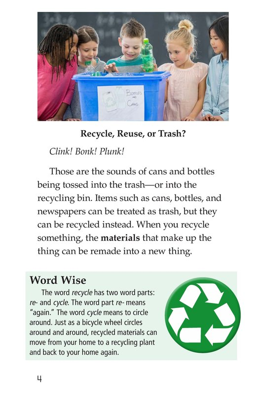 Book Preview For Nature Reuses and Recycles Page 2